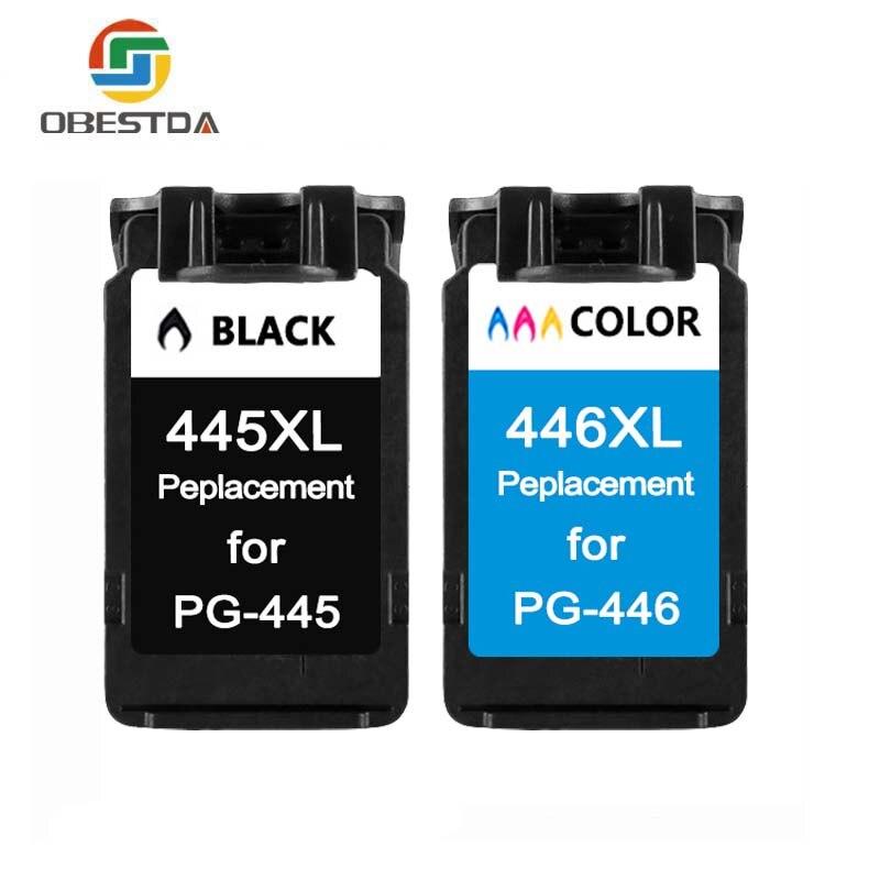 Obestda PG-445 CL-446 cartouche d'encre pour Canon 445 446 PG445 CL446 pour Canon Pixma iP2840 MG2440 imprimante à Jet d'encre livraison gratuite