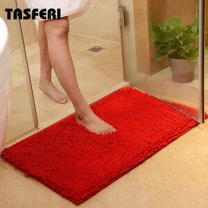 Bath Microfiber Chenille Mat Soft Absorbent Solid Anti Slip Carpet Bath Mat Bedroom Rug Pad for Tiolet Bathroom Kitchen Rug(China)
