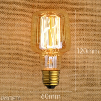 2pcs Loft Style Lampada Edison Lamp Light Bulb Bombillas Vintage Bulb Light Ampoules Decoratives 40W 220V E27 A19 ST64 ST58 G95