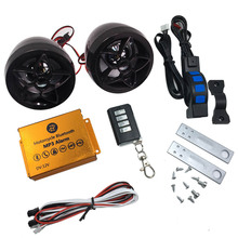 Motorcycle Scooter Alarm Bluetooth MP3 Music Player Audio Speakers Motorbike Stereo Speaker TF Card FM Radio USB Charging