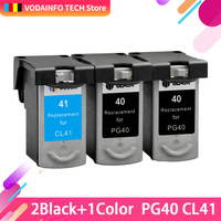 3PC=2bk+1cl PG 40 CL 41 PG40 CL41 Ink Cartridge For Canon Pixma MP140 MP150 MP160 MP180 MP190 MP210 MP220 MP450 MP470