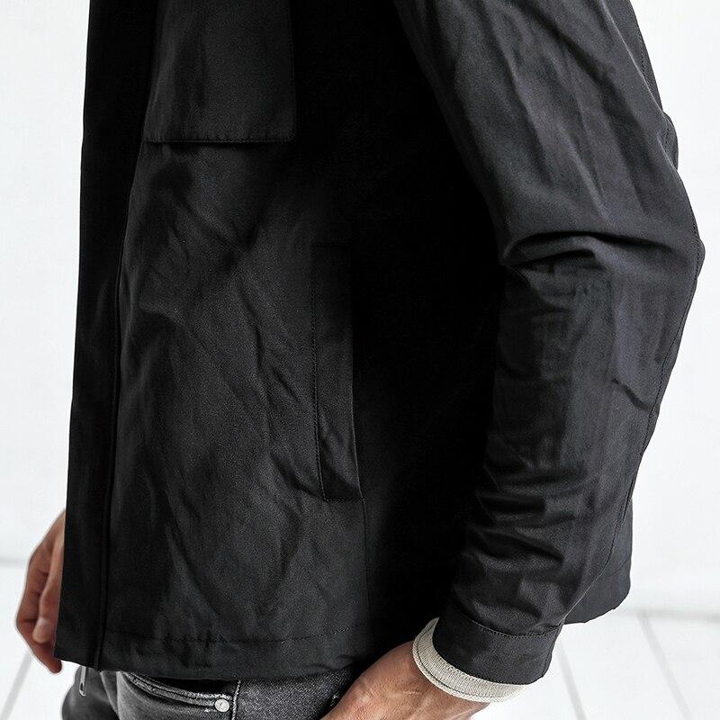 SIMWOOD 2019 autumn New Jackets Men Pockets Fashion Military Jacket Windbreaker Casual Coats Slim Fit Plus Size JK017008