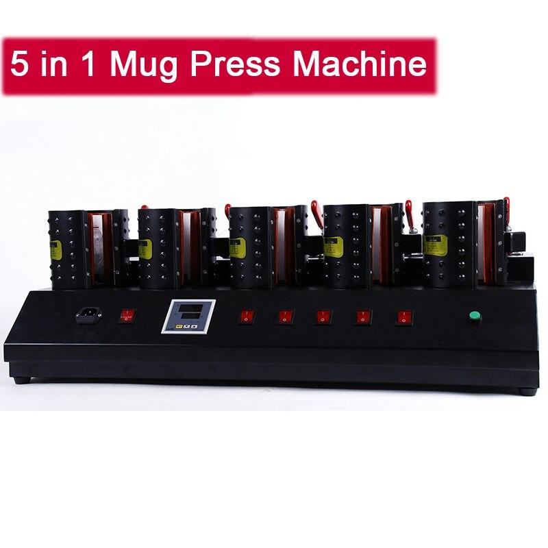 Multifunzione Taglierina e Dispenser Singolo Controller 5 in 1 Tazza di Calore di Sublimazione Digitale Presse Stampante Macchina