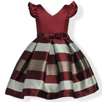 Flower Girl Dress With Big Bow Party Baby Girls Princess Dresses Children Clothing Christmas Costumes Vestidos