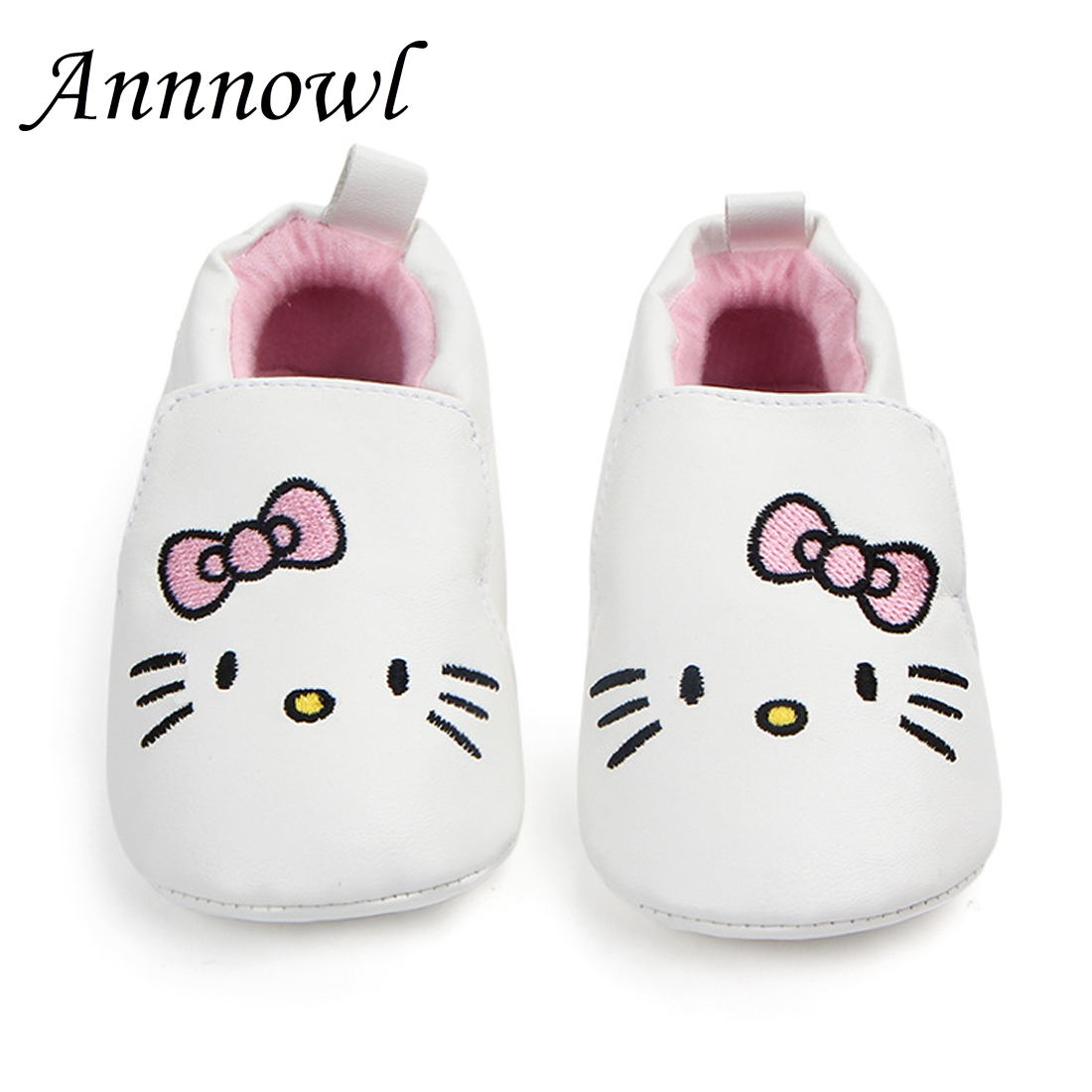 Baby Crib Shoes Fashion Trainers Slip on Infant Girls Shoes for 1 Year Old Leather Soft  ...
