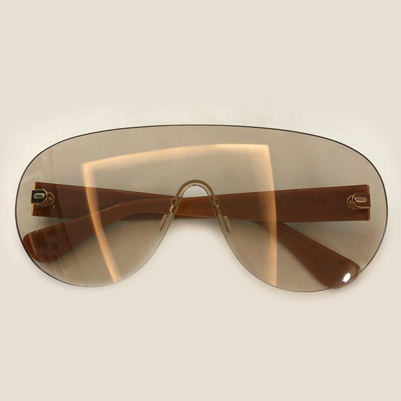 Uv400 Qualität 2019 Männer no5 Hohe Sunglasses Objektiv no4 Neue Randlose Übergroßen Sonnenbrille Polarisierte No1 Transparent Sunglasses Sunglasses no3 no2 Große Runway Sunglasses Sunglasses Frauen twqYB4BzXx