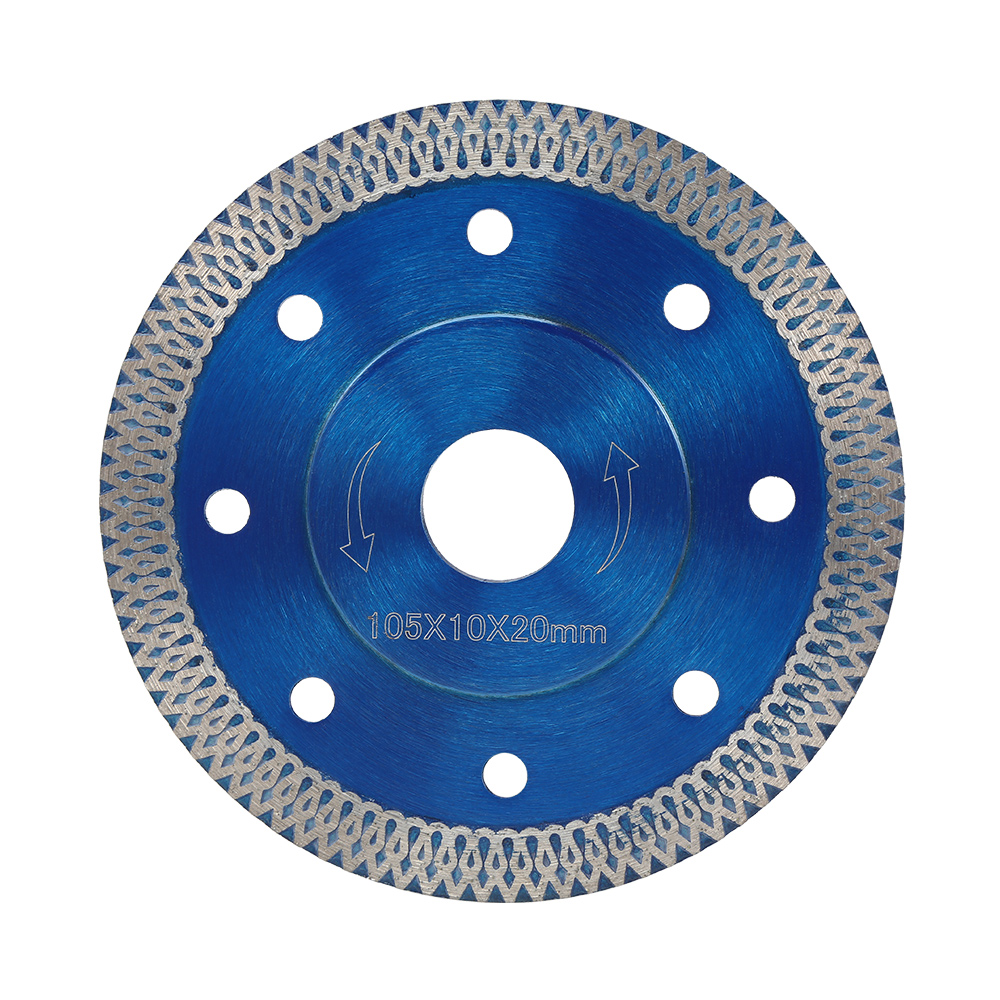 105/115/125mm Wave Style Diamond Saw Blade For Porcelain Tile Ceramic Dry Cutting Aggressive Disc Marble Granite Stone Saw Blade