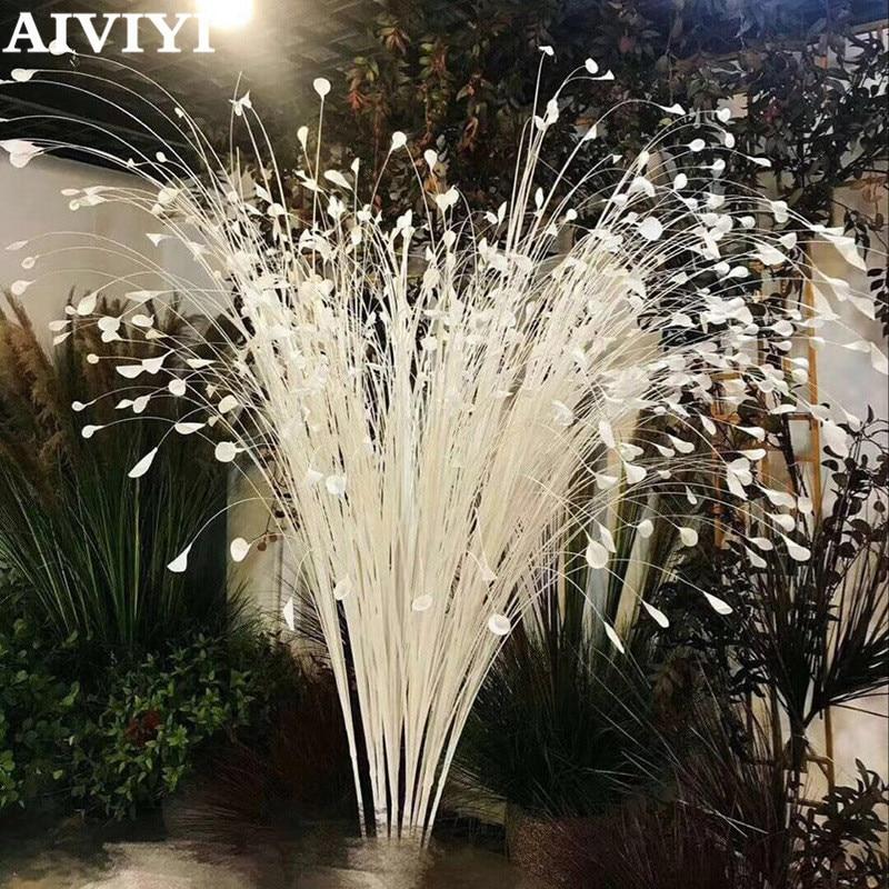 Commerce extérieur excellent produit fleur artificielle mariage paon accessoires fleur phoenix plume volant herbe roseau feuilles oignon gr