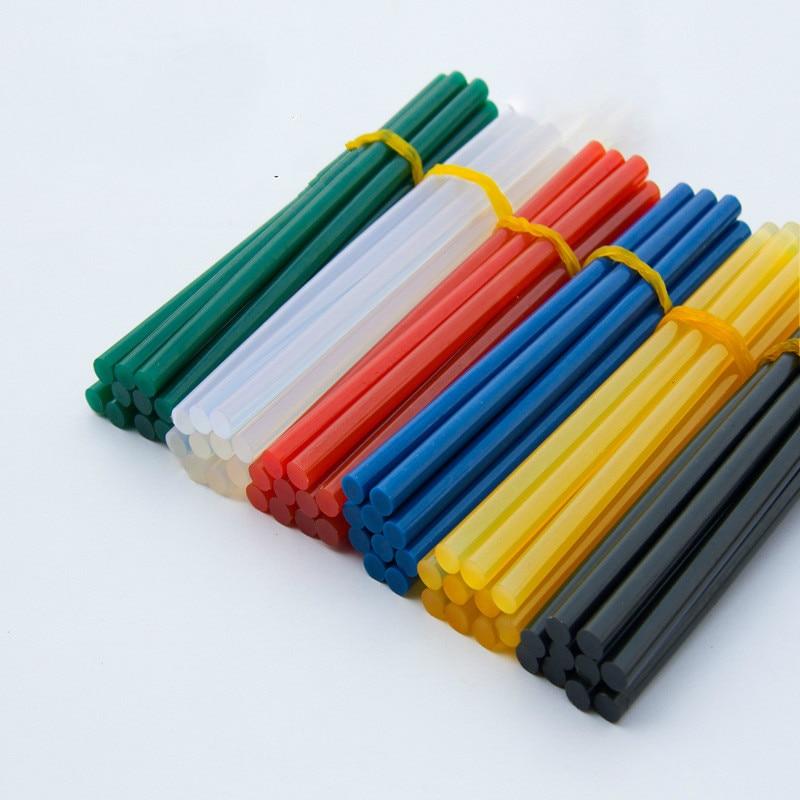 Six colors each 10 pcs Hot melt adhesive rod 7mm hot melt adhesive, silica gel glass melt adhesive glue stick color