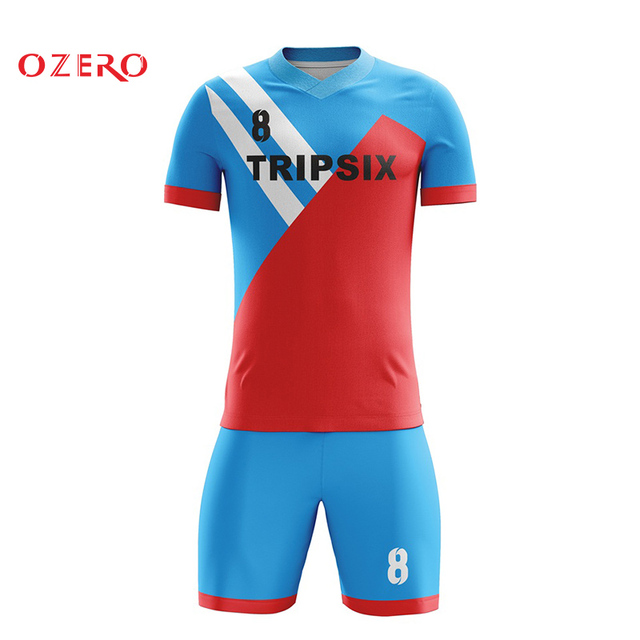 a1387759a full sublimated soccer jerseys thai quality new men s stripes sport football  uniforms set custom