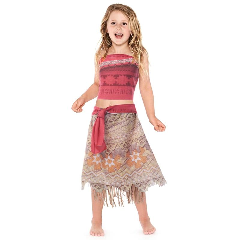 YOFEEL Moana Costume da Principessa Delle Ragazze del Vestito Da Estate  Advanture Selvatica di Halloween Vestito cd1848635cf