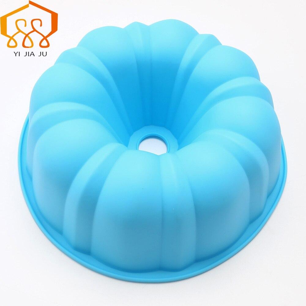 DIY apaļš dobs šifons kūka dzimšanas dienas kūka pelējuma pārtikas kvalitātes silikona kūka pelējuma augstas temperatūras cepeškrāsns ledusskapis bezmaksas piegāde