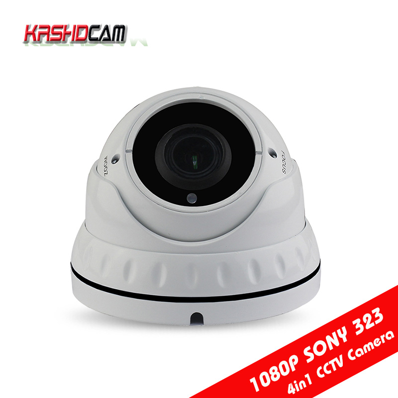 full hd 1080P AHD/CVI/TVI camera outdoor waterproof sony323 sensor dome vandalproof Night Vision 1920*1080 security cctv cameras red fox палатка team fox 6100 зеленый