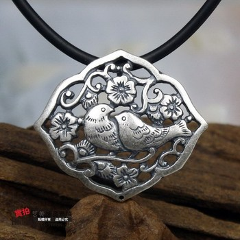 S990 pure silver pure silver ph7 vintage national trend pendant fly wing to wing female pendant