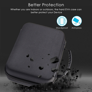 Image 2 - Hard Portable Carry Shockproof Case Bag for ZOOM H1, H2N, H5, H4N, H6, F8, Q8 Handy Music Recorders, Charger, Mic Tripod Adapter
