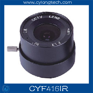 1/3'' F1.6 CS  Fixed Iris  4mm IR Lens  CCTV Camera Professional Lens. CYF416IR 8mm 12mm 16mm cctv ir cs metal lens for cctv video cameras support cs mount 1 3 format f1 2 fixed iris manual focus
