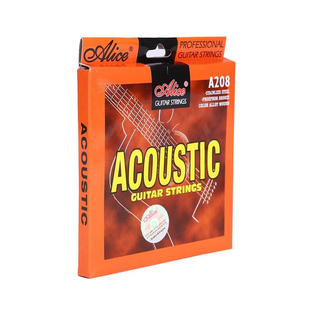 A208 Acoustic Guitar Strings Stainless Steel Coated Copper Alloy Wound Alloy Wound