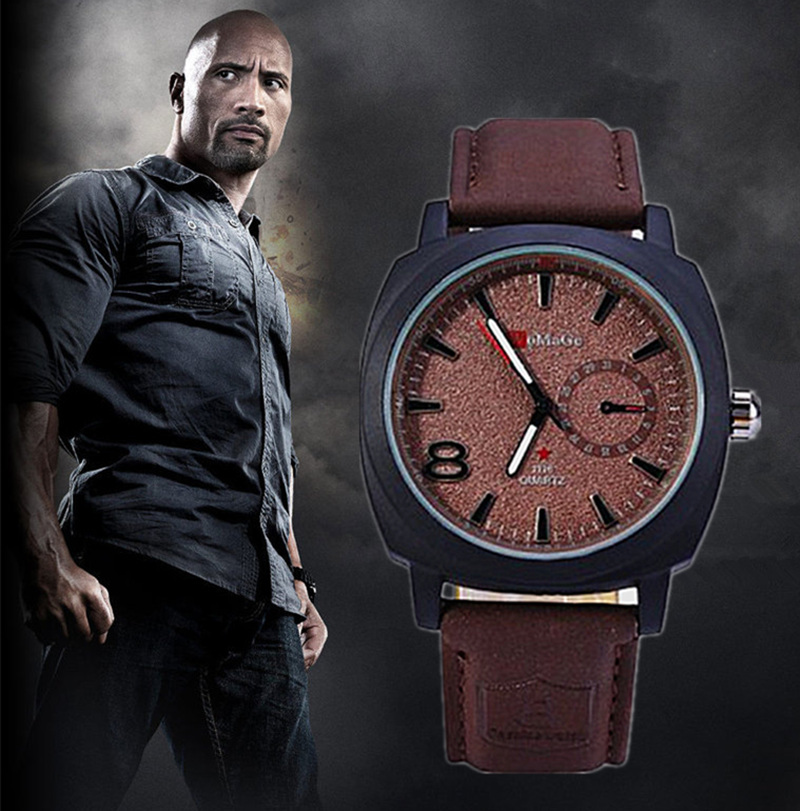 Womage Watch Men's Quartz hot sale watch Leather & Casual Sports Military Watch Fashion Round Dial Relogioes male wristwatch