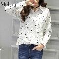 XXXL 4XL 5XL Plus Size Women Shirts 2017 Spring Korean Fashion Star Polka Dot Print Long Sleeve Loose Casual Cotton Blouse Tops