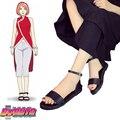 Envío gratis Boruto : Naruto the Movie Haruno Sakura negro Saldal Anime zapatos de Cosplay