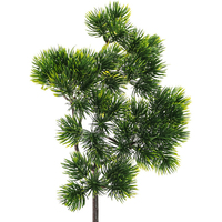 38*28cm Artificial Cypress Leaf Pine Branch Home Simulation Green Plant Cabinet Balcony Garden Decoration Fake Pine Needle