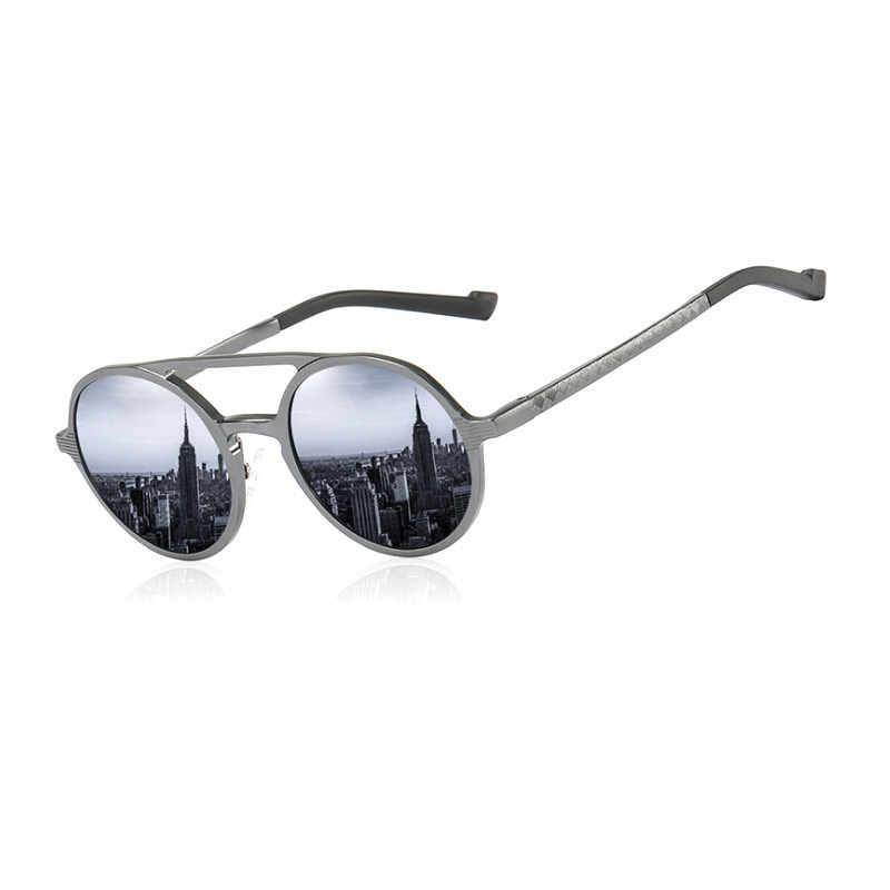 MYDYICAT Design Da Marca Óculos De Sol Dos Homens de Alumínio E Magnésio Polarizada Acessórios Masculinos Do Vintage Óculos Redondos Óculos de Sol Óculos de Condução
