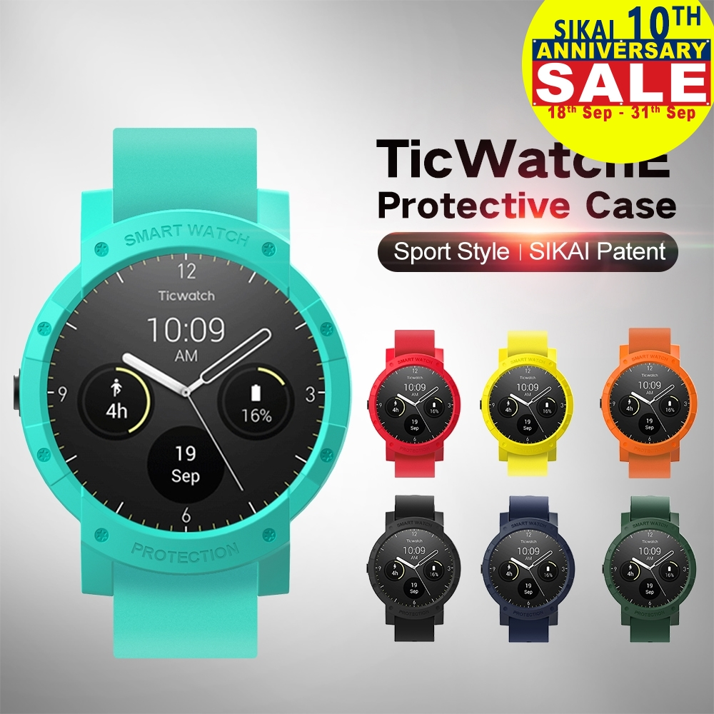 SIKAI Patent Hard Plastic Protective Case Cover for Ticwatch E Protector Case For Ticwatch E Watch Case Screen Protective Case стоимость