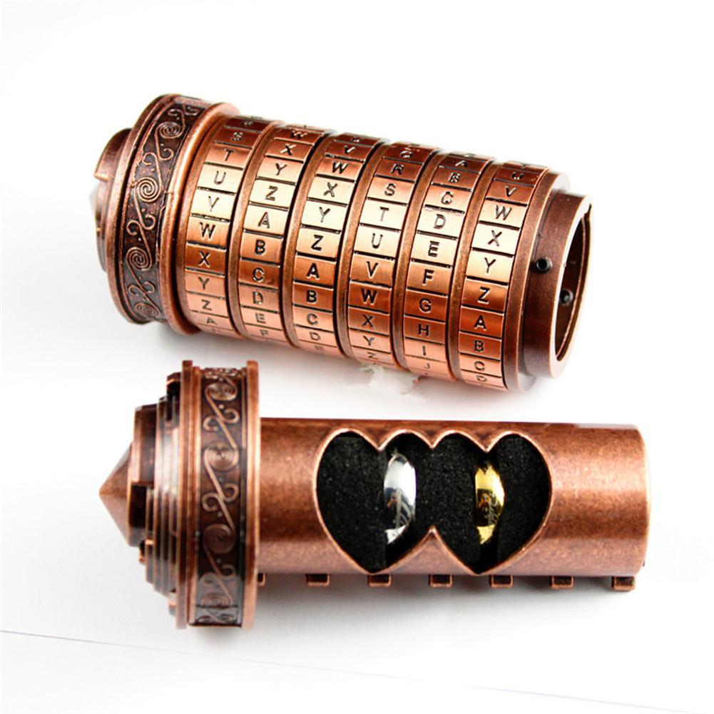 HobbyLane Leonardo Da Vinci Code jouets métal Cryptex serrures cadeau de mariage saint valentin cadeau lettre mot de passe évasion chambre accessoires