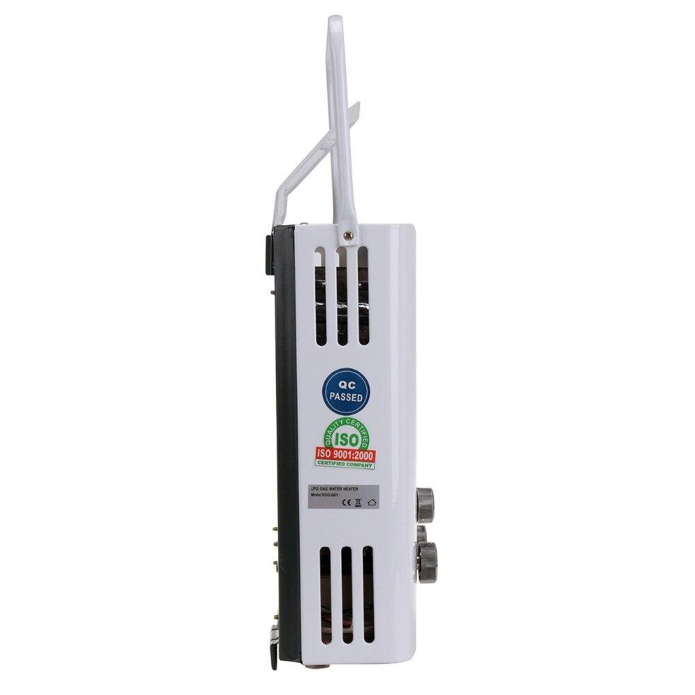 Ue livraison gratuite mise à jour 6L LPG Propane gaz sans réservoir chaudière instantanée Camping en plein air randonnée chauffe-eau avec pomme de douche - 3