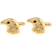 Vagula New Gold-Color Plating Head Of Eagle Cufflinks Funny Cuff links Wedding Men's cufflinks French Shirt Cuff link 21(China)