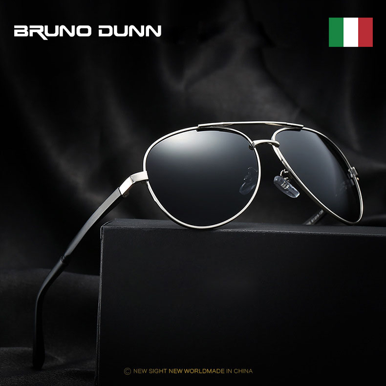 Bruno Dunn 2020 Aviation Men Sunglasses Polarized Sun Glases oculos de sol masculino aviador UV400 high quality Sunglases(China)