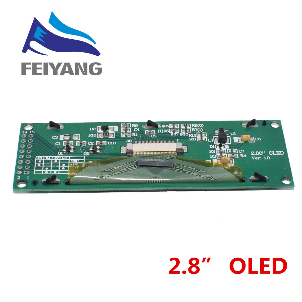 """Image 5 - NEW OLED Display 2.8"""" 256*64 25664 Dots Graphic LCD Module Display Screen LCM Screen SSD1322 Controller Support SPI-in LCD Modules from Electronic Components & Supplies"""