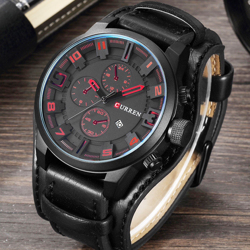 CURREN Relogio Masculino Watch Men Military Quartz Watch Mens Watches Top Brand Luxury Leather Sports Wristwatch Date ClockCURREN Relogio Masculino Watch Men Military Quartz Watch Mens Watches Top Brand Luxury Leather Sports Wristwatch Date Clock