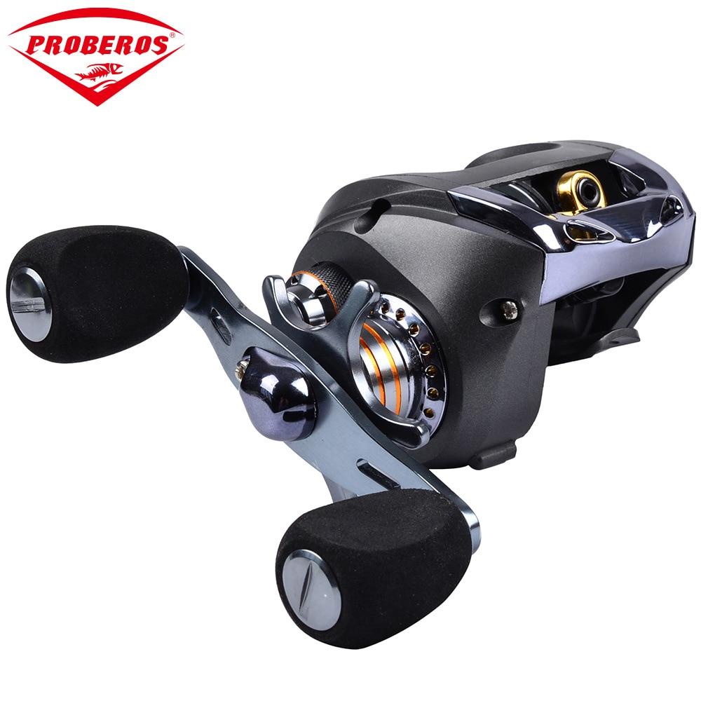 Brand 7+BB Low-Profile Reel Bait Casting Reel 6.3:1 Centrifugal Brake Universal Fishing Gear Fishing Reels Carp Coin Wheel