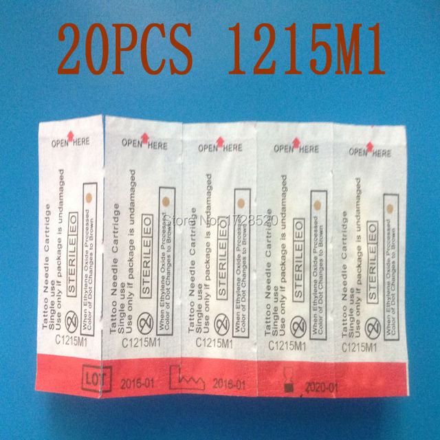 HOT SELLING 20Pcs/Lot 1215M1 Magnum Needles Hawk&T-TECH BRAND Tattoo Needles Cartridges FREE SHIPPING