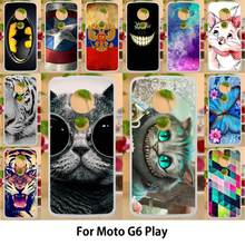 Anunob For Motorola Moto G6 Play Cases Painting Soft Silicone 5.7 inch Cover For Motorola Moto G6 Play Covers(China)