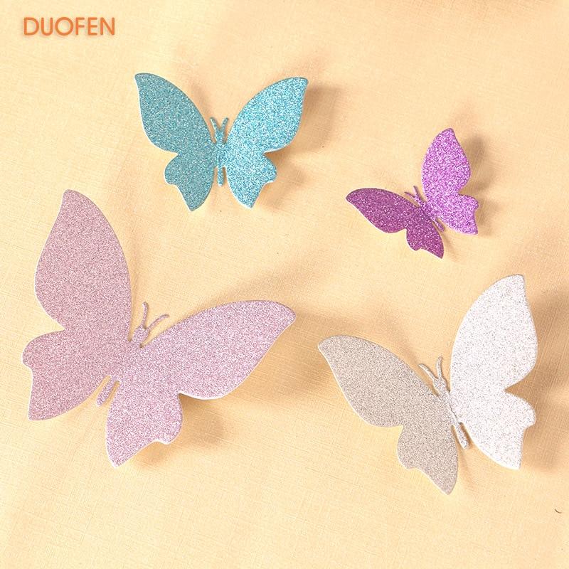 DUOFEN METAL CUTTING DIES010091 4pcs Small Butterflies Cutout Lace Hollow Embossing Stencil DIY Scrapbook Paper Album 2018 New