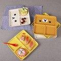 Nuevo 2016 niños separados dividido bandejas de comida plato vajilla infantil de dibujos animados bebé Platos bandejas de comida de Contenedores de Alimentos