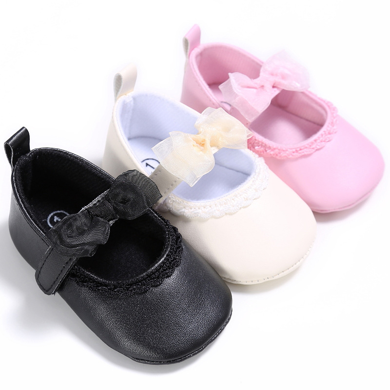 Newborn Baby Girls Shoes Princess Crib Shoes Cute Footwear Toddlers Fashion Soft Butterfly First Walkers Shoes Baby Moccasins