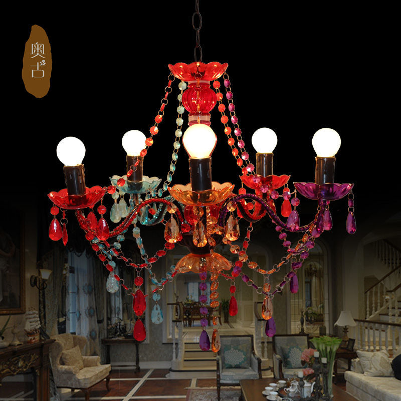 Southeast candle chandelier plexiglass retro living room lights restaurant lights lamps bedroom stairs
