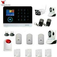 YobangSecurity Wireless WiFi GSM Home Burglar Fire Alarm Security System With Wireless Flash Siren Outdoor Indoor