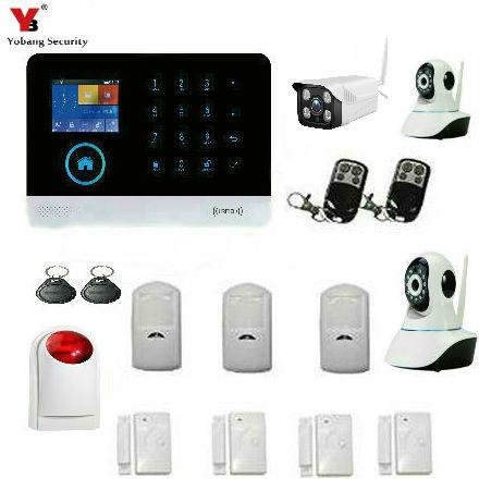 YobangSecurity Wireless WiFi GSM Home Burglar Fire font b Alarm b font Security System With Wireless