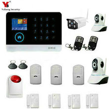 YobangSecurity Wireless WiFi GSM Home Burglar Fire Alarm Security System With Wireless Flash Siren Outdoor Indoor IP Camera