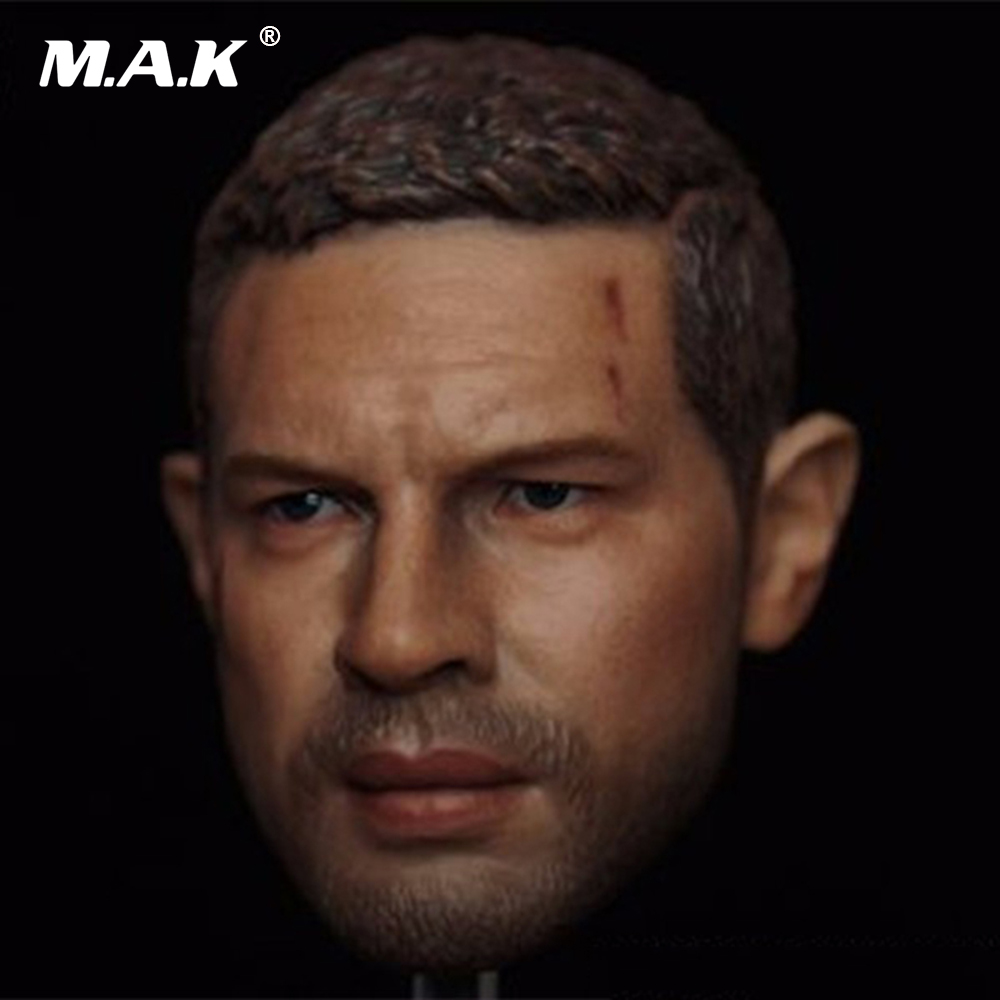1/6 Scale Man Head Sculpt Tom Hardy Head Carving Mad Max Head Model for 12 inches Action Figure
