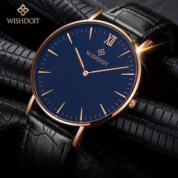 2fea3ce8fd32 Wishdoit hombres reloj Top marcas de lujo reloj de cuarzo de negocios  Militar hombres relojes hombres reloj Relogio masculino Relojes Hombre