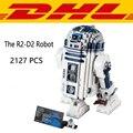 2017 Nueva LEPIN 05043 2127 Unids Serie Star Wars El R2-D2 Robot modelo Kit de Construcción de Bloques de Ladrillos Juguetes Para Niños de Regalo Con 10225