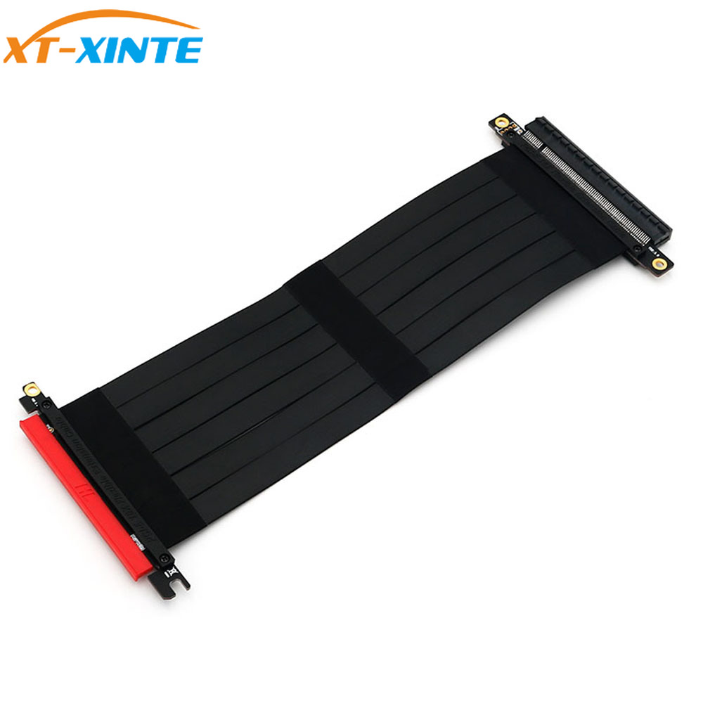 XT-XINTE PCI Express 16x Flexible Cable Riser Card Extension Port Adapter Graphics Video Card Extend Cord For 1U 2U Chassis