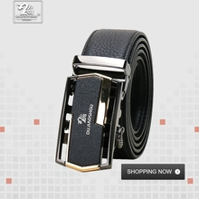 DUJIAOSHOU Business trend leather middle and young belt automatic buckle casual DJS9590-002