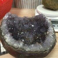 1.5 kg גס גביש טבעי אגת Geode קריסטל צורת אבן דגימת מינרלים גביש וקוורץ ספק סין מחיר סיטונאי