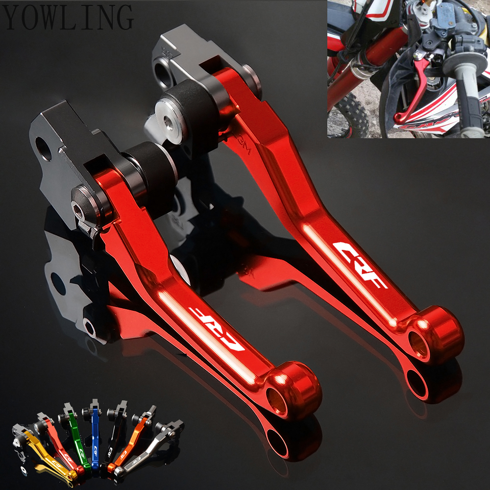 YOWLING Motocross Dirt Bike Brake Clutch Lever For Honda CRF250R CRF450R 2004 2005 2006 Pit Bike Brake Clutch Handle crf250r 250x 450r 450x dirt bike motocross enduro modify cnc billet part brake reservoir cover brake hose clamp engine plugs kit